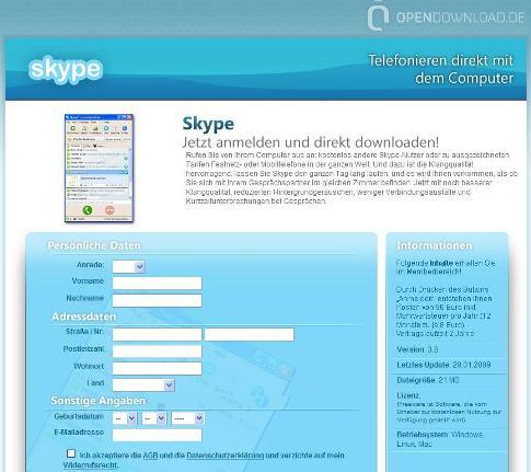 Skype Warnung